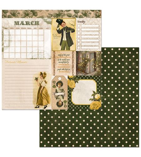 Hoja de papel de scrapbook - march - 7310389