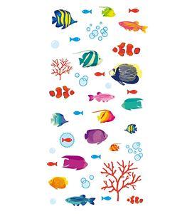 Autoadhesivos 3d peces exoticos multicolor - 11004146