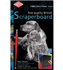Set de 10 scraperboards - negro - 229x152mm