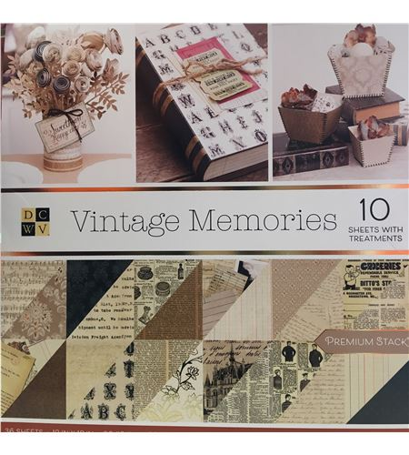 Bloc de papel de scrapbook - vintage memories - PS00500640
