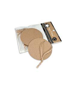Kit de círculos kraft + cuerda - TAG1075