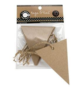 Kit de triángulos kraft + cuerda - TAG1083