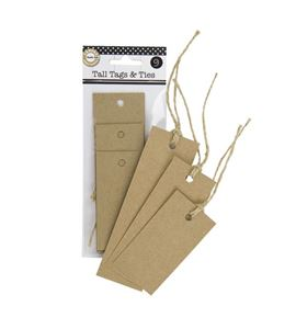 Kit de etiquetas krafts + cuerda - varias medidas - TAG1957