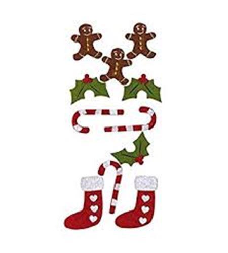 Fieltro cosido - galletas navidad - 13070026
