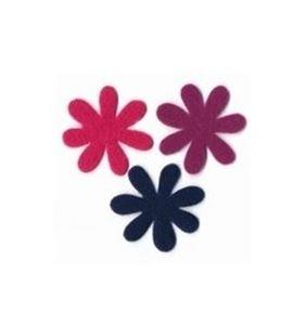 Fieltro set 6 flores rosa / violeta / púrpura - FE19MAF