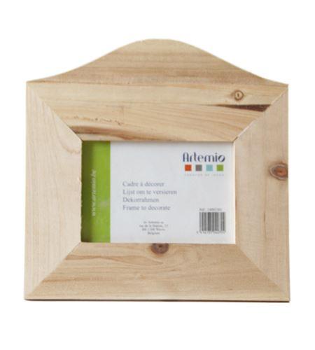 Marco de madera horizontal - 12 x 8 cm. - 14001501