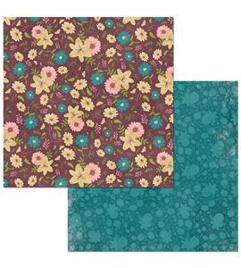 Hoja de papel de scrapbook - floral spice - 7310351