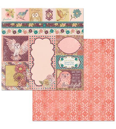 Hoja de papel de scrapbook - beautiful - 7310352