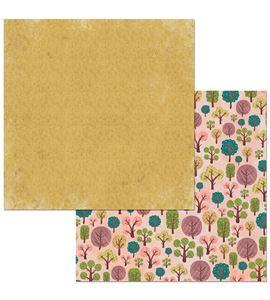 Hoja de papel de scrapbook - forest - 7310355