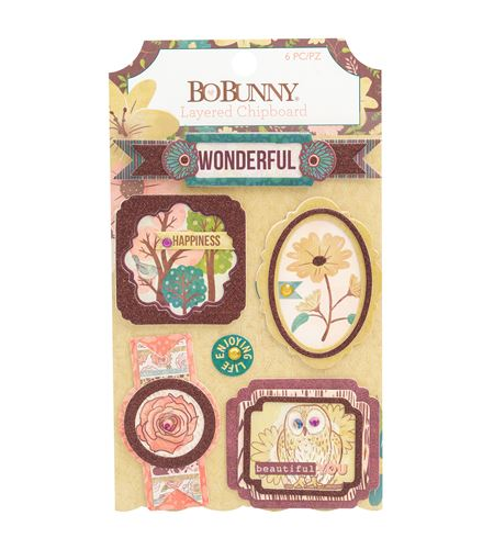 Deco de cartón con glitter - floral spice - 7310365
