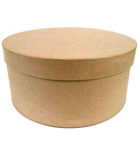 Caja de papel mache para decorar - ovalada - 14030046