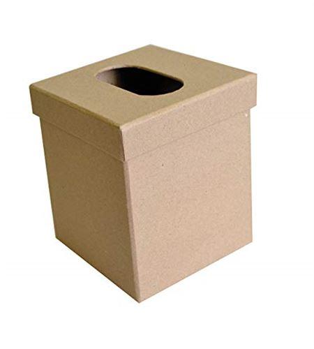 Caja de papel mache para decorar - rectangular - 14030053