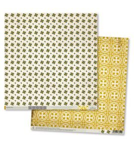 Papel de scrapbook - modernista amarillo - MTH002