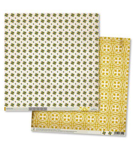 Papel de scrapbook - modernista amarillo - MTH002