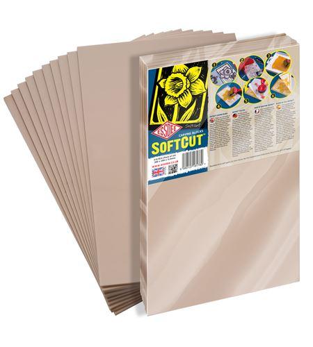 Pack de 10 hojas de carvado softcut - 40x30m. - SC5