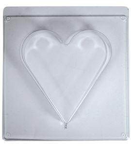 Molde para moldear cemento, jabón, cera - corazón 18,5cm - 36078000