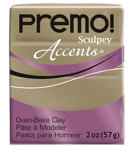 Premo accents - yellow gold glitter 57g - 5147