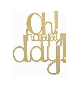 Letras de madera oh happy day! - 14001952