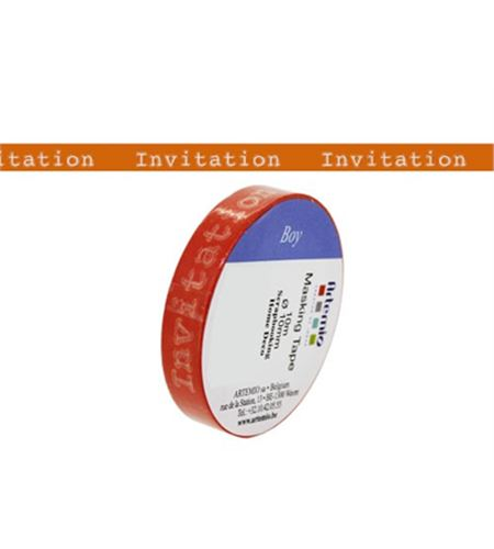 Masking tape naranja - invitation - 11006585