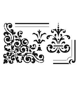 Plantilla / stencil - corner medall - 15010001