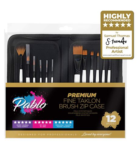 57075 brush set pro 12 piece with zip case stand* - 57075