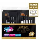57075 brush set pro 12 piece with zip case stand*