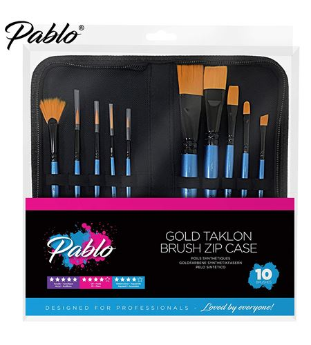 57082 brush set 10 piece with zip case* - 57082