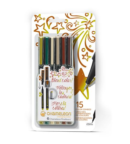 Fineliner 6-pen nature colors set - FL0602NAFRONT