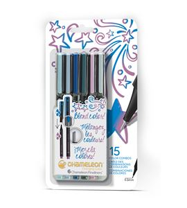 Fineliner 6-pen cool colors set - FL0604NAFRONT