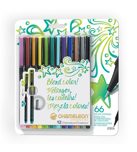 Fineliner 12-pen bright colors set - FL1201NAFRONT