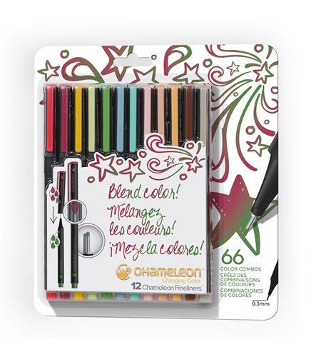 Fineliner 12-pen designer colors set - FL1202NAFRONT