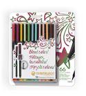 Fineliner 12-pen designer colors set