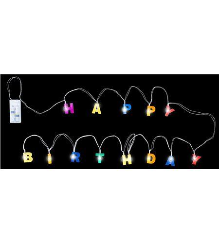 Cadena de luces feliz cumpleaños - 11269