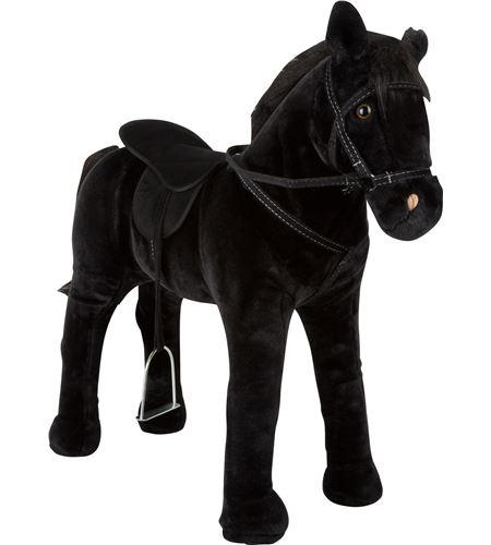Caballo de juguete con sonido, negro. - 11176