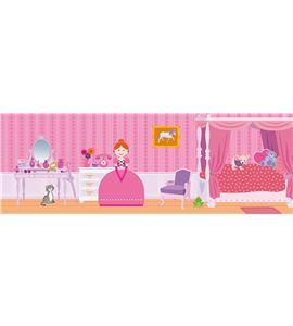 Decoración + autoadhesivos 3d princesas multicolor - 11004180