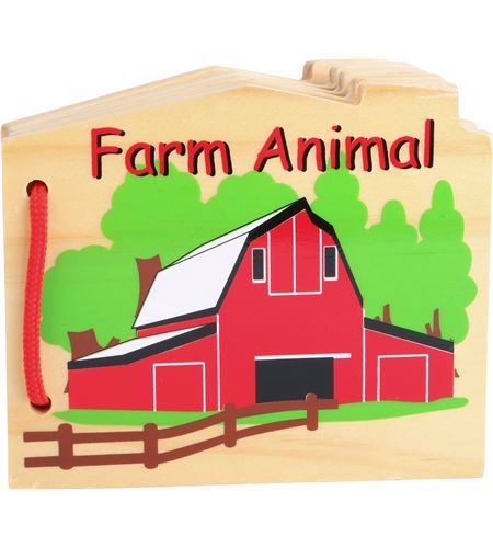 Libro de madera granja - 8520