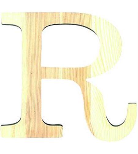 Letra madera pequeña r - 14001098