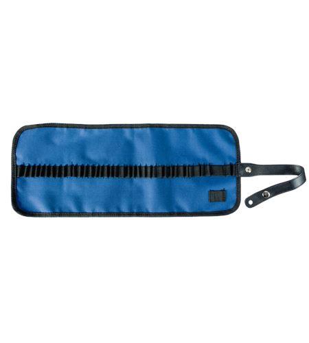 Estuche porta lápices enrollable nilón - azul - AM-348042