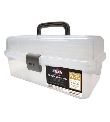 Caja de transporte de pinturas y pinceles semi traslúcida. - 07290002