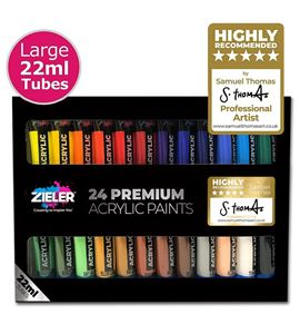 Estuche de pintura acrílica 24 colores de 22ml. - 07290014