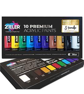 Estuche de pintura acrílica para artistas10 colores en tubos 38ml. - 09299265