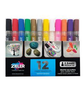 Rotulador pintura acrílica punta media 2,5mm. - estuche 12 u. - 09299290