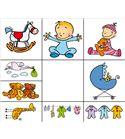Set sellos infantiles madera birth