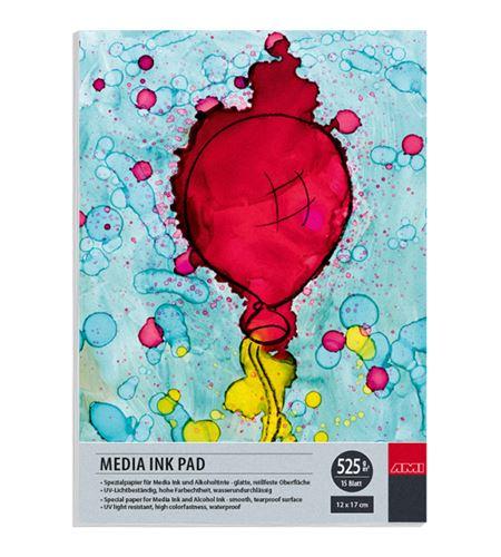 Papel tipo yupo tinta alcohol bloc 15 hojas 525gr 12x17cm - 182320