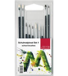 Conjunto de 10 pinceles escolares - AM-574890