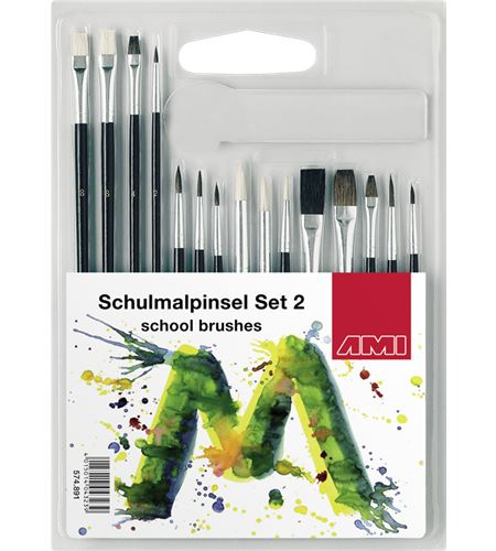 Conjunto de 15 pinceles escolares nº2 - AM-574891
