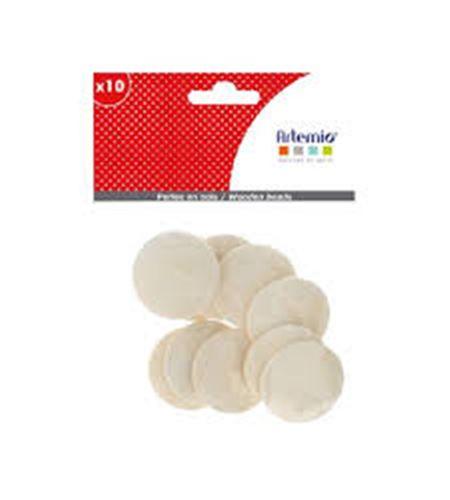 Piezas de madera para bisutería - círculo - 14002272