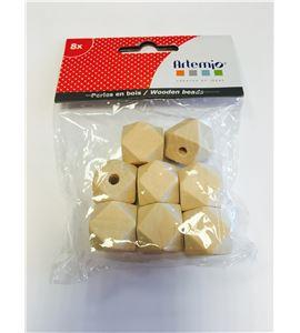 Piezas de madera para bisutería - polígonos - 14002274
