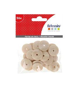 Piezas de madera para bisutería - discos - 14002275