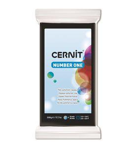 Arcilla polimérica cernit number one 500gr negro - CE0900500100